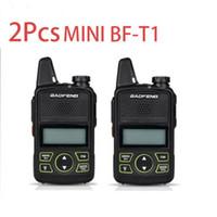 walkie talkie de maior alcance venda por atacado-2X Baofeng BF-T1 Rádio em dois sentidos UHF 400-470Mhz Walkie Talkie fone de ouvido de longo alcance