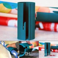 Wholesale christmas tree cutters for sale - Group buy Christmas Little ElF Sliding Wrapping Paper Cutter Simple Practical Cutting Tool Smooth Packing Supplies With Embedded Blade Opp Bag