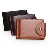 Wholesale coin money clips for men resale online - Slim Bifold Wallet with Money Clip Finest Faux Leather Minimalist Pocket Credit Card Holder Zipper Coin Purses Wallet For Men
