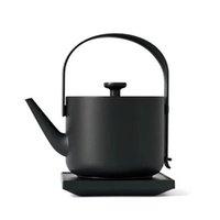 elektrische teekessel großhandel-Neue einfache Design 600ML Kapazität Wasserkocher 1200W schnell kochende Wasserkocher Tee Kaffeekanne mit Griff automatische Abschaltung