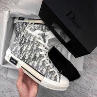 ingrosso scarpe da basket-Scarpe da ginnastica alte Dior X KAWS da Kim Jones Con Fashion Designers Classic obliquo stampa Logos donne degli uomini di pallacanestro Scarpe skate