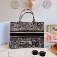 ingrosso borse di ciliegio-41cm classici sacchetti Beach schizzo di shopping borse borse borse del progettista di lusso di grande capacità fiore colorato di ciliegio in fiore Libro Totes