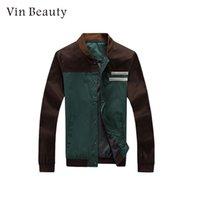 ingrosso la giacca coreana dell'esercito-Giacca casual Maschile Giacca a vento Moda coreano L-XXXL Contrast Colour Business Autunno Soft Boy Army Green