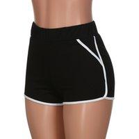 estilo de yoga coreano al por mayor-Verano caliente Mujeres Sportwear Gimnasio Entrenamiento Cintura media Yoga Pantalones cortos para correr Estilo de la calle coreano Sólido entrenamiento Ciclismo pantalones de chándal