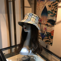 Wholesale sun hats top for sale - Group buy The latesclassical Designer Bucket Hat For Mens Womens Foldable Caps Camouflage stripe Fisherman Beach Sun Visor Sale Folding Man Bowler Cap