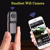 Wholesale small p2p camera resale online - Mini MD81S Camera Camcorder Wifi IP P2P Wireless DV Camera Secret Recording CCTV Android iOS Smallest Wifi Camcorder Video Espia Nanny