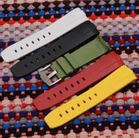 ingrosso braccialetto bianco nero rosso-Cinturino in gomma siliconica bianca 24mm nero rosso blu arancio bianco Cinturino per cinturino con cinturino con fibbia PAM Logo on