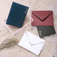 invitaciones de la boda del vintage fijadas al por mayor-50 unids / set Creative European Vintage Envelope Hot Stamping Envelope for Wedding Letter Invitación de cumpleaños de Navidad Sobres