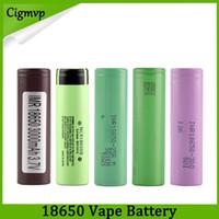 Wholesale li ion rechargeable cells resale online - Best Quality HG2 Q VTC6 mAh NCR mah R mAh Battery E Cig Mod Rechargeable Li ion Cell Battery