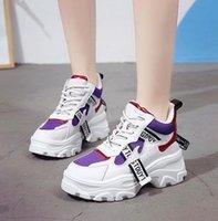 ingrosso più le scarpe da tennis di tela di canapa di formato-2019 vendita calda donna scarpe casual 40 più dimensioni traspirante femminile sneakers donna scarpe di tela 6 cm piattaforma sneakers