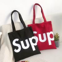 arte japonesa da lona venda por atacado-Moda Sup Bolsas de Lona Bolsa de Ombro Bolsa de Versão Coreana de Japonês e Coreano Arte Saco de Estudante Simples Livre DHL