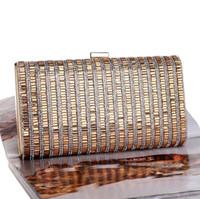 moda renkli çanta toptan satış-Fabrika outlet marka kadın çanta bayanlar elbiseler elmas akşam çanta moda renkli elmas zincir çanta el-boncuklu el çantaları