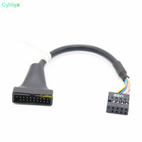 Wholesale wholesale laptop motherboards for sale - USB3 to USB2 P Male To P Female Motherboard Cable Computer Cable Adapter Chassis front turn wiring