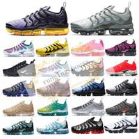 tn hombres zapatos deportivos al por mayor-2019 Hombres Mujeres Nueva TN Plus gris metalizado Running Calzado deportivo de diseños para caballeros las zapatillas de deporte con la caja + de la X