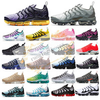 Wholesale khaki shoes for women resale online - 2019 New TN Plus Grey In Metallic Women Mens Running Sports Designer Shoes For Men Sneakers Trainers With Box Stock X