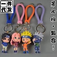 rol de llavero al por mayor-IVYYE 1 UNIDS Uzumaki Naruto Role Anime Figura de Acción Llavero PVC Figuras Llavero Juguetes Llavero Llavero Regalos Unisex NUEVO
