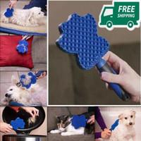 sihirli fırça hayvan tüyü toptan satış-Pet Yumuşak Tarak Temizleme Fırçası Sihirli Köpek Kedi Masaj Yapışkan Damat Planör Köpek Atma Saç Fırçası Profesyonel Bakım Aracı CCA11565 20 adet
