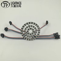 rgb led ws2812b al por mayor-Anillo LED WS2813 Nueva WS2812B 8 16 24 48 Bit 5050 RGB LED WS2813 direccionable Anillo Led Board para Arduino 5VDC tira tipo de ojos de ángel