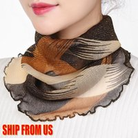 hijab face mask 2021 - US Stock Women Silk Neck Scarf Fashion 2020 Print Lady Chiffon Neckerchief Summer Sunscreen Scarf Female Foulard Hijab Face Mask FY6128
