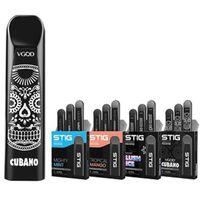 caixas de bateria de cigarro venda por atacado-VGOD Descartável Vape Caneta STIG Pod Dispositivo 270mAh Bateria 1.2 ml Cartucho 300 Puffs 4 Flavors Descartáveis E-cigarros 3 pçs / caixa