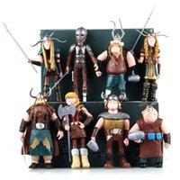 juego de objetos al por mayor-8pcs / set Cómo entrenar a tu dragón de plástico juguetes muñeca de dibujos animados 10-13cm Juego de Figuras artículos de la novedad CCA11352 6set juguetes para niños