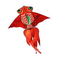 игрушка летучей рыбы оптовых-1.6м высокого качества Карп рыбы Kite с ручкой линии Вэйфан Кайт летающих змей дракона завод Крепкая нейлоновая ткань Детские игрушки