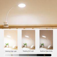 berührung led dimmer großhandel-LED Touch Ein / Aus Schalter 3 Modi Clip Schreibtischlampe 4000K Augenschutz Schreibtischlampe Dimmer Wiederaufladbare USB Led Tischlampe