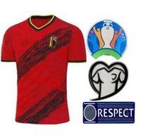 r fußball großhandel-19 20 European Cup Belgien Fußball-Trikot maillot de foot E.HAZARD R. Lukaku CAMISETAS Nationalmannschaft zu Hause weg DE BRUYNE Fußballhemd
