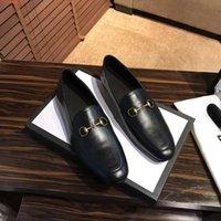 mokassins schuhe schwarze leder männer groihandel-Bestes Mann-echtes Leder Art und Weise Loafers schwarze Mules Schuh Qualitäts-Mokassin Schuhe Trensen flacher rote Schuhe JORDAAN Eleganter Schuh