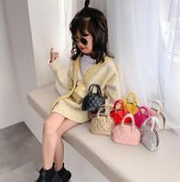 Wholesale korean children handbag for sale - Group buy Kids Shell Bag Korean Style PU Embossed Pattern Handbag Baby Toddler Girls Crossbody Mini Chain Shell Bags Purse Children Handbags GGA3406