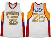 quality design 2da20 b3b77 Derrick Rose McDonalds All American Retro Klassiker Basketball Trikot  Herren genäht benutzerdefinierte Nummer Name Trikots