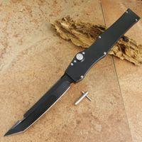 Wholesale single action knives resale online - V single action all black green red blue handle Hunting Pocket Knife Survival Knife Xmas gift for men