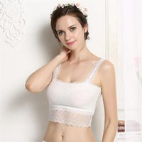 ingrosso bandeau ragazze-Moda Donna Wrapped Chest / Boob Tube Top Lace Bandeau Healthy Underwear Colore nero bianco Sexy Ladies Girls Autumn Intimates