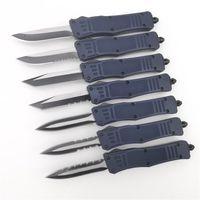голубой лазер dhl оптовых-Бесплатный DHL малый размер 616 авто ножи NYPD 440C сталь EDC тактический карманный нож охотничий нож a161 палатки кемпинг темно-синий лазерная гравировка