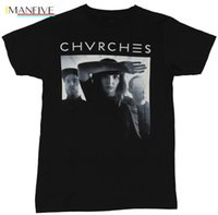 Wholesale quick photo resale online - Chvrches Mens T Shirt Shadow Drenched B W Photo Under Name Cartoon t shirt men Unisex New Fashion tshirt