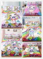 conjuntos de cama unicórnio venda por atacado-poopsie surpresa Unicorn alvo 3D conjunto de cama com todos os tamanhos