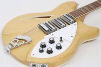 dreieck mop groihandel-12 Saiten Modell 370 Gitarre VP Mapleglo 1994 E-Gitarre Halbhohlkörper Natürliche E-Gitarre Gelbes Dreieck MOP