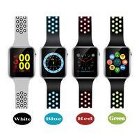 ogs ekranı toptan satış-M3 Akıllı Bilek İzle Ile 1.54 inç LCD OGS Kapasitif Dokunmatik Ekran Smartwatch Android Telefon için SIM Kart Yuvası Kamera Saatler