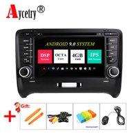 radio navegación para audi al por mayor-IPS DSP para Audi TT 4G RAM 8 Core 2 Din Android 9 coche Radio reproductor de DVD multimedia Navegación GPS estéreo obd2 Volante DAB