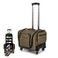 ingrosso ruote borsa leopardo-CARRYLOVE multifunzione Leopard Alta capacità Valigia Ruote Carry On Trolley Cabin Travel Bag