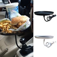 Wholesale car folding tray resale online - Universal Black White Car Tray Folding Table Lunch Drinking Pallet Seat Cup Support During The Trip