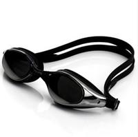ingrosso grandi occhiali di scatola-Galvanotecnica impermeabile anti-fog big box uv opaco impermeabile occhiali da nuoto hd occhiali uomini e donne autentici