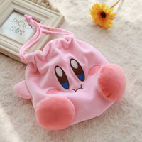Wholesale makeup tools cute for sale - Cute Kirby Drawstring Storage Bag Pink Plush Makeup Animal Bags For Outdoor Easy To Carry Organizer New Arrival fz BB