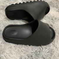 Wholesale sale beach sandals resale online - Hot Sale kanye slide Foam Runner Fashion slippers Bone Desert Sand Resin triple black fashion slides mens beach hotel sandals Gear bottoms