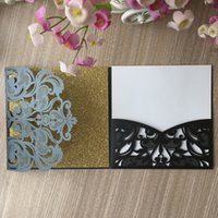 Wholesale wedding invitation chinese floral resale online - 50PCS Beautiful Butterfly Pattern Wedding Invitations Cards Decorations Lace Hollow Floral Supplies To Anything Grand Party Invitations