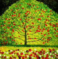 Wholesale high quality home decor resale online - A1X1HD70 Gustav Klimt The appletree High Quality Handcraft HD Print Wall Art Famous oil painting On Canvas Home Decor Multi sizes Option GK