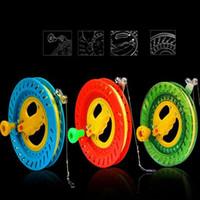 rueda volando juguete al por mayor-Envío gratis de alta calidad gran rueda de cometa juguetes voladores al aire libre bolsa de cometa cuerda carrete pájaro paracaídas serpiente