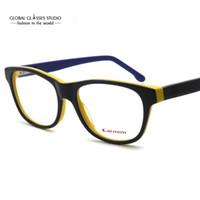 neue stilvolle brillen großhandel-Neue stilvolle und komfortable Acetat Cat Eye Typ Unisex gelb blau schwarz optische Rahmen Brillen Brillen 51BG24011