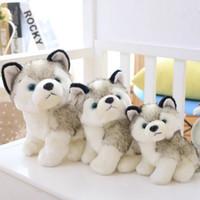 juguetes para perros al por mayor-Husky Dog Peluches pequeños animales de peluche juguetes de la muñeca de los niños regalo de Navidad regalo de animales de peluche niños muñecas de la felpa Juguetes EEA551