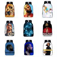 Wholesale cute backpack for men for sale - Group buy Free DHL Hip Hop Backpack for Teenager Boys Children Cute School Bags Rapper Women Men Double Shoulder Causal Bag Student Backpack O35FA